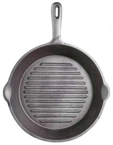 Patelnia żeliwna grillowa 24 cm Kitchen Craft KCCIRD