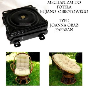 Mechanizm bujano-obrotowy do rattanowego fotela PAPASAN